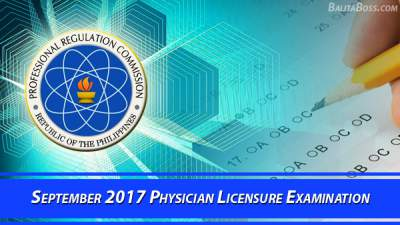 Results: Physician September 2017 Board Exam