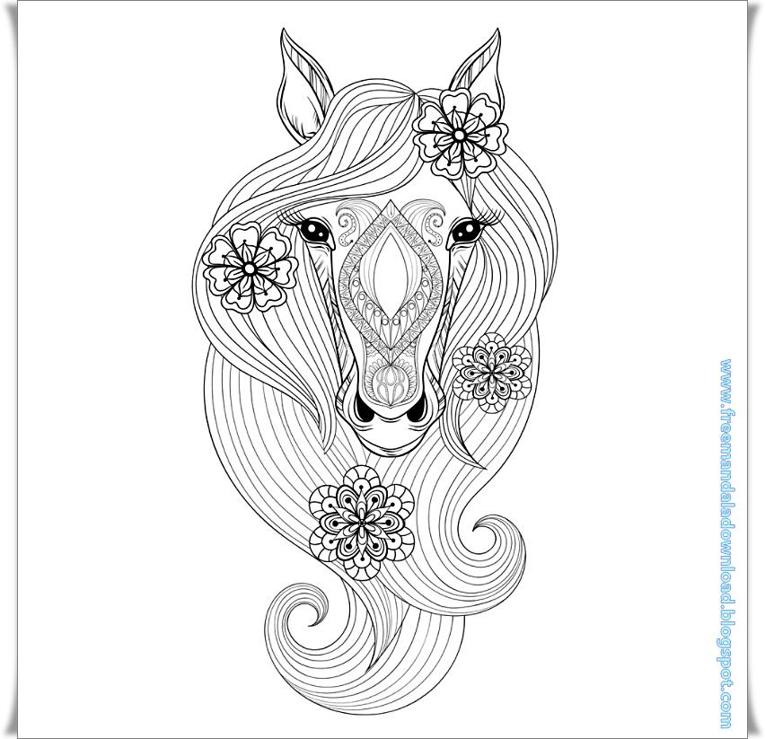 Animal-Hors mandala-Tier-Hors - Free Mandala