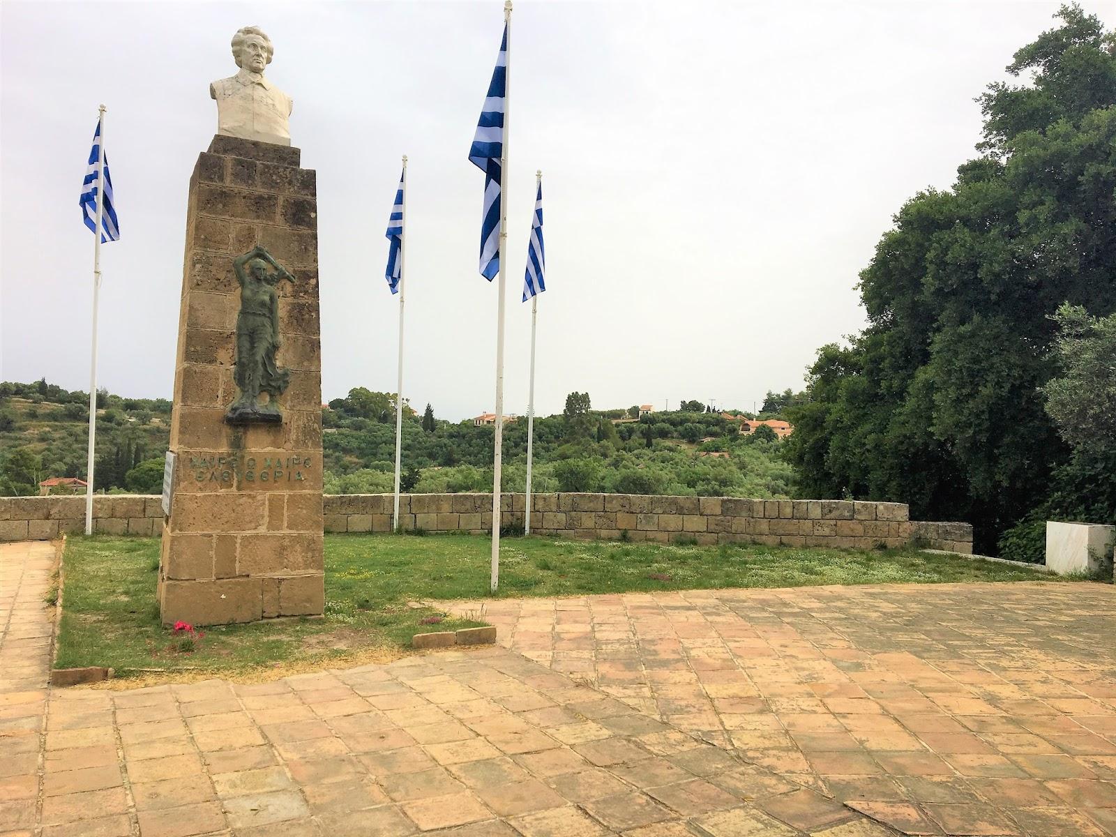 Dionysios Solomos Statue Zakynthos