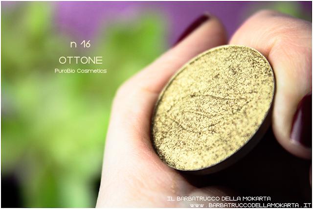 n 16 ottone   REVIEW  ombretto eyeshadow Purobio Cosmetics