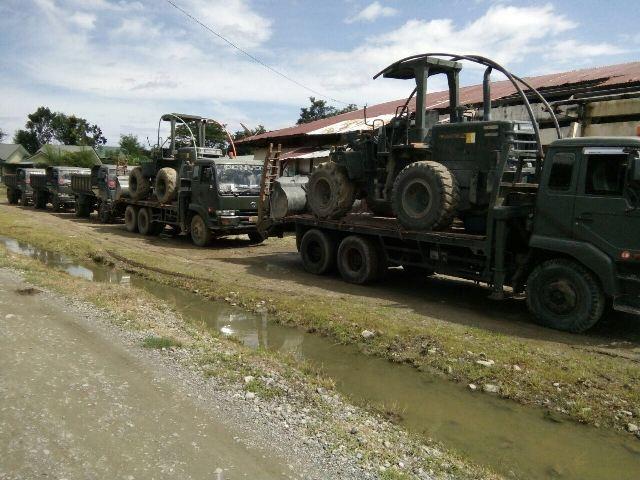 Batalyon Zipur 16/DA Kerahkan Alat Berat Kelokasi Gempa