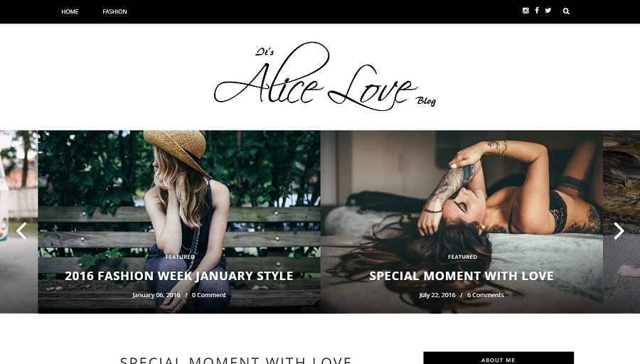 Alice - Personal Responsive Blogger Template