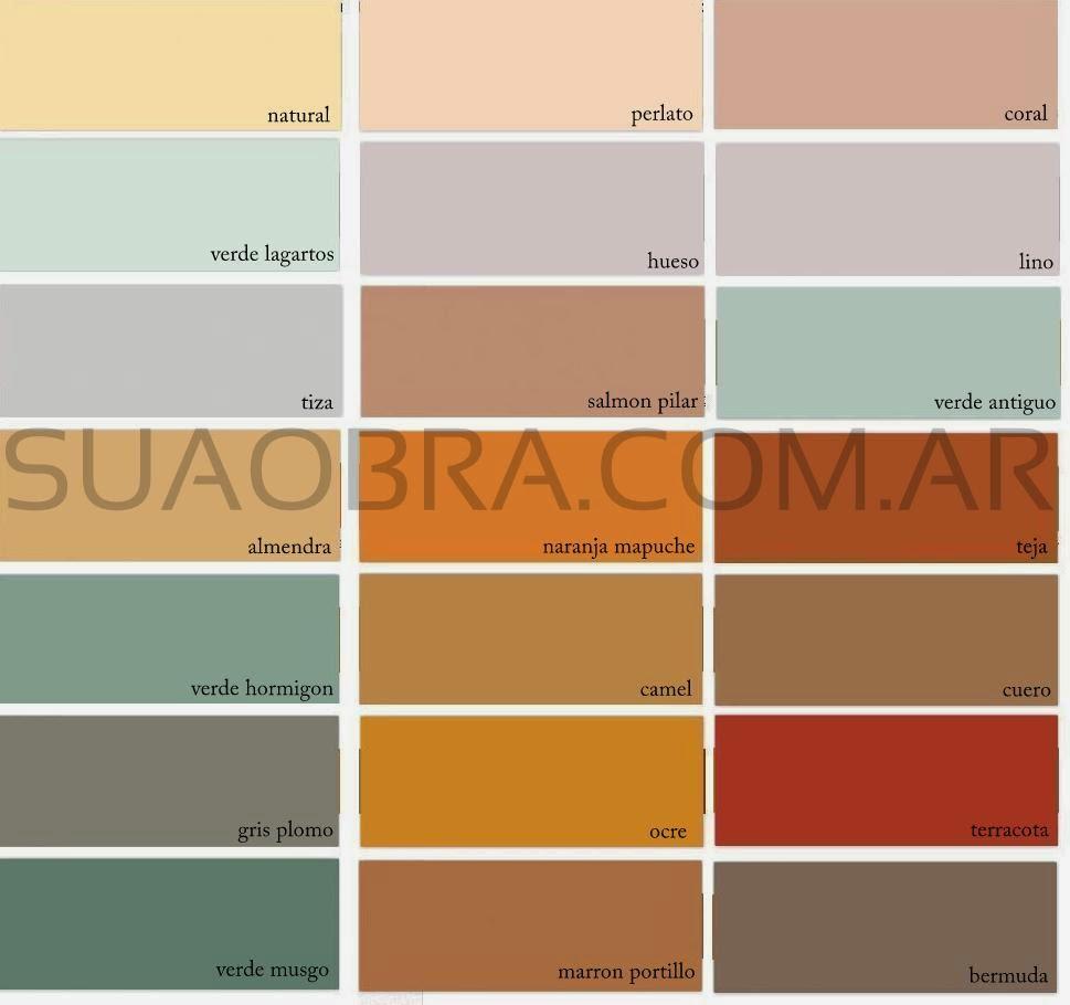 SUAOBRACOMAR Paredes con Revestimiento Plstico  Colores y Texturas  Tarquini Quimtex Revear