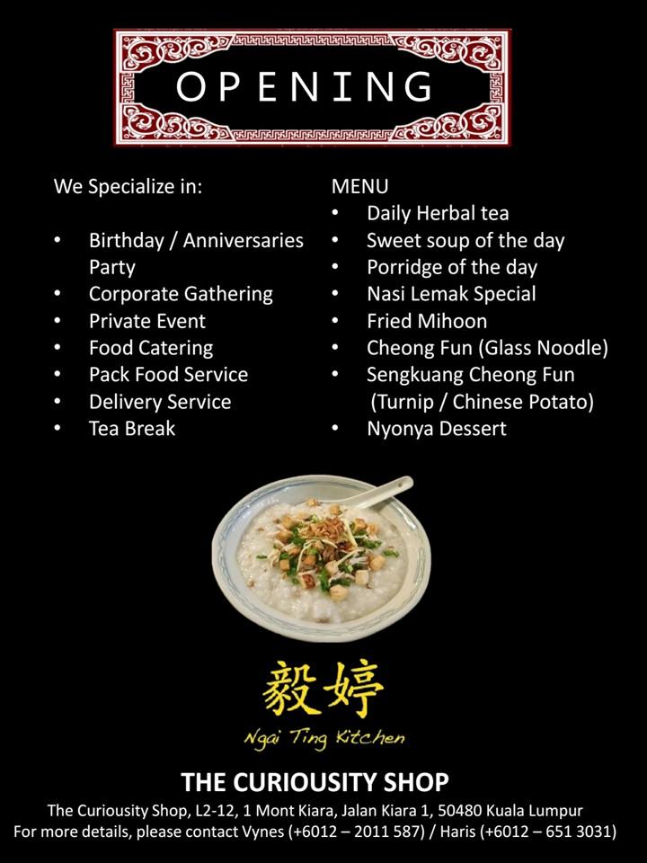 Wu S Open Kitchen Menu