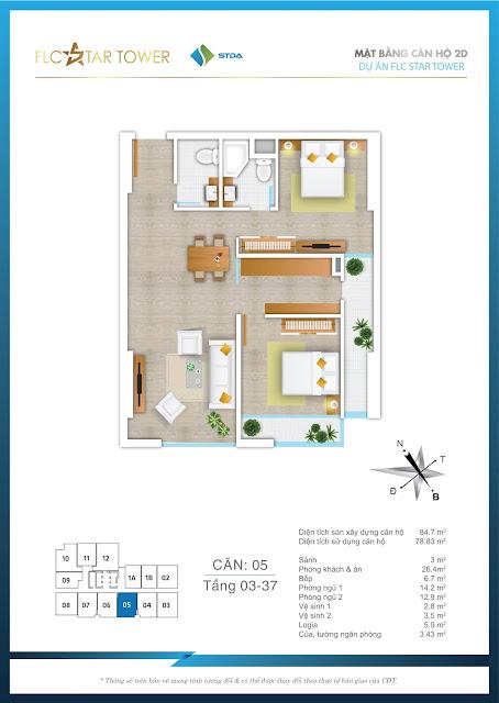 Thiết kế căn hộ 05 - FLC Star Tower
