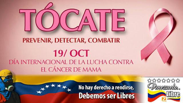 19 deOctubre Día Mundial Del Cancer de Mama. Únete a la campaña!!! Canal Zello Venezuela..Libre