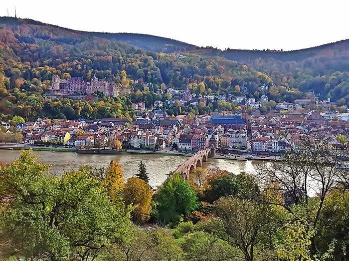 Blick auf den Neckar vom Heidelberger Philosophenweg