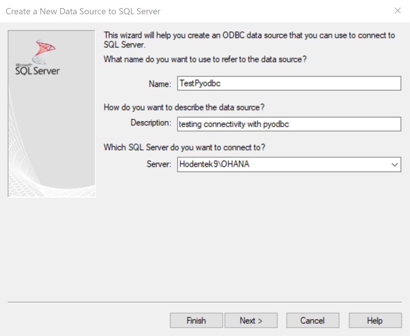 HodentekHelp: How do you connect to SQL Server using pyodbc?