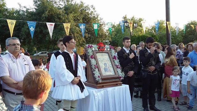 Πλήθος πιστών στην υποδοχή της Ιεράς Εικόνας της Παναγίας Σουμελά, στην Κερασούντα