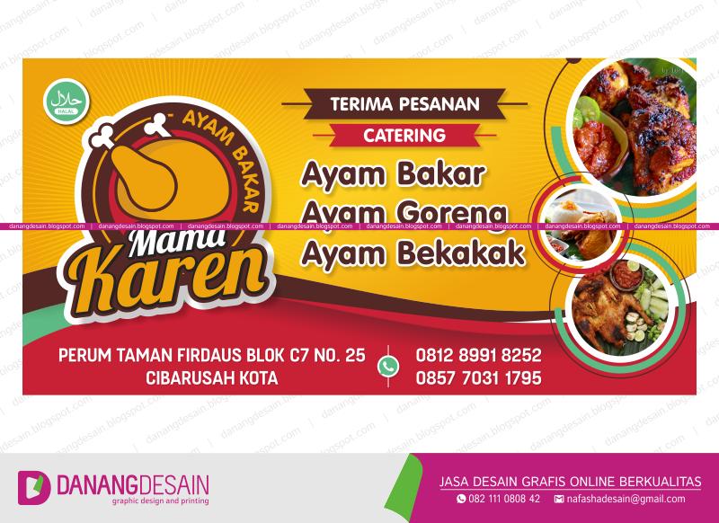 Banner Jual Ayam Bakar - desain spanduk keren