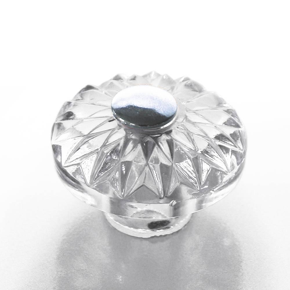 m belkn pfe aus glas und kristall klassischer m belknopf aus glas und chrom 35mm. Black Bedroom Furniture Sets. Home Design Ideas