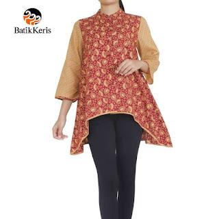 model baju batik keris wanita 2018