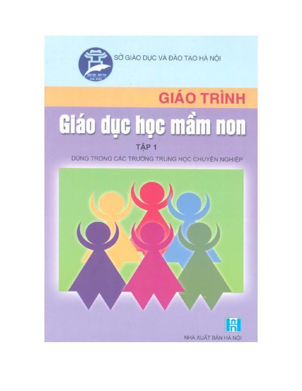Giáo Trình Giáo Dục Học Mầm Non Tập 1 – Nguyễn Thị Thường