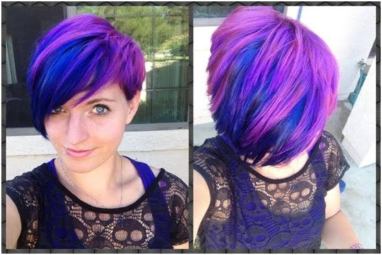 Crazy Colors for Short Hair
