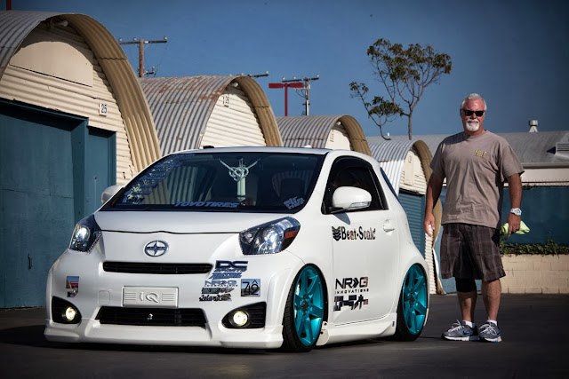 Mark and his custom 2012 Scion iQ
