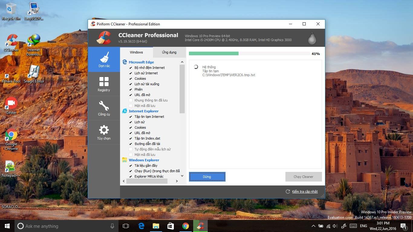 CCleaner Professional 5.39 – Phần mềm dọn dẹp, tăng tốc máy tính