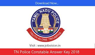 TN Police Constable Answer Key 2018