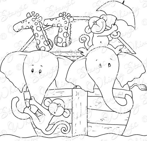 Superb Printable Noah's Ark Coloring Pages | Sherry's Blog | 480x500