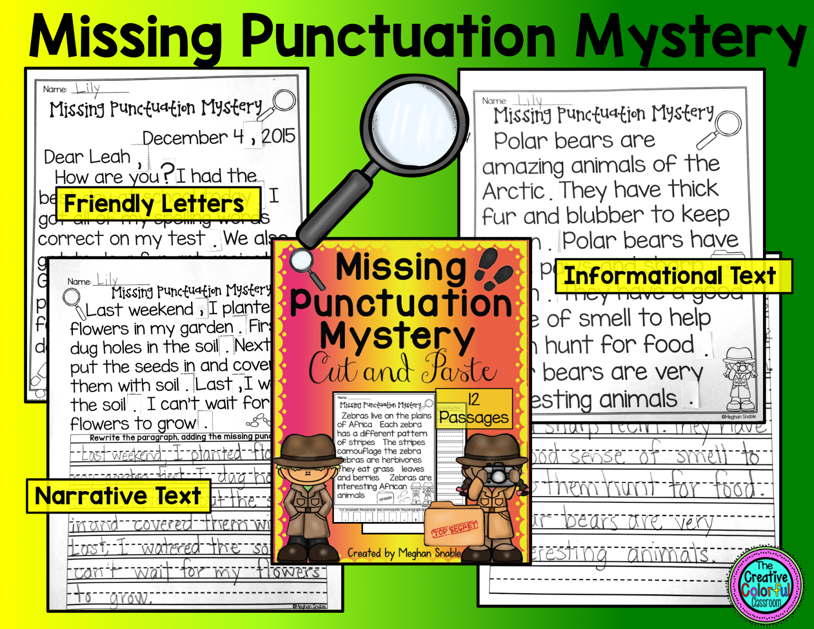 The Creative Colorful Classroom Missing Punctuation Mystery