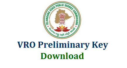 Telangana VRO Exam Official Key Download | Preliminary Key for TS Village Revenue Officer Recruitment Exam Held on 16.09.2018 Download Here | TSPSC VRO Initial Key by Telangana State Public Service Commission Download | VRO Preliminary Key for Booklet Series A B C D Download Here tspsc-vro-official-preliminary-key-for-booklet-series-A-B-C-D-download