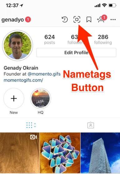 fitur instagram nametags