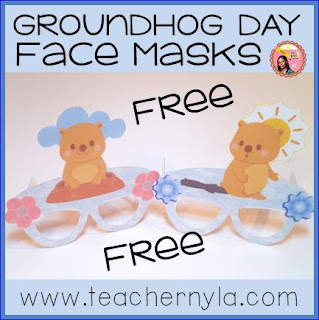 Groundhog Day printable Masks