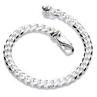 Men's Solid Silver Curb Bracelet