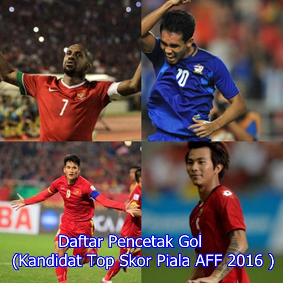 Daftar Pencetak Gol (Top Skor Piala AFF 2016 )