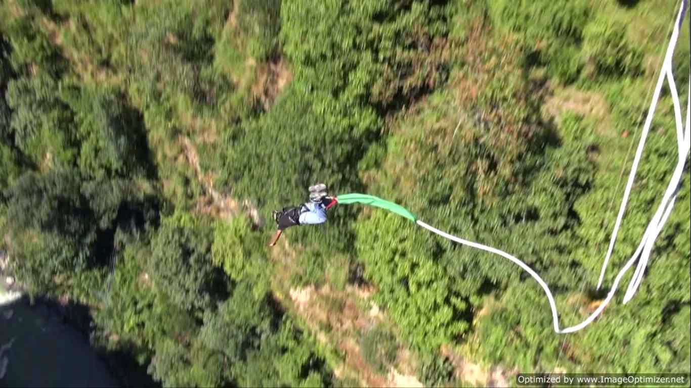 My 160m bungee jump at The Last Resort, Nepal