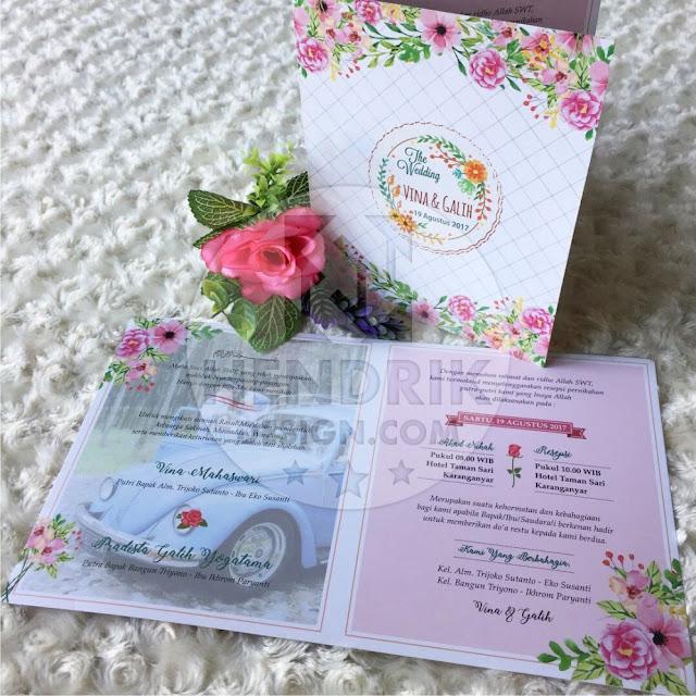 Contoh undangan pernikahan softcover vina dan galih