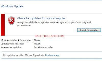 perintah menampilkan windows update