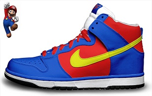 Colorful Nike Super Mario Shoes Series Character Dunk  a2973d44d