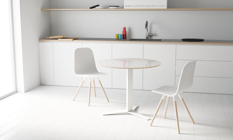 Silla cocina n rdica pata madera tu cocina y ba o for Sillas de cocina blancas de madera