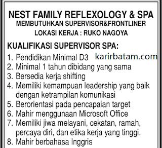 Lowongan Kerja Nest family Reflexology and Spa Batam