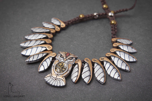 Owl Necklaces – Clockwork and Nature / Sowie Naszyjniki