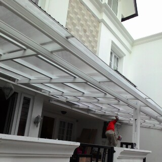 Contoh Kanopi Baja Ringan Atap Spandek Pusat Murah Jabodetabek: Desain ...