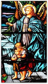 Vitral Santo Anjo da Guarda - Igreja Sagrado Coração de Jesus, Restinga Seca