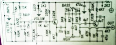Tone control mono circuit  with C828 / C945