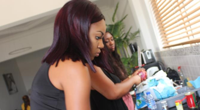 Celebrated Ghanaian actress Yvonne Nelson took a knee injury during her 31st birthday celebration on Saturday.