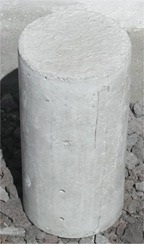 "6""x12"" Concrete cylinder sample"