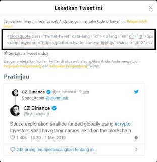 Cara memasang twitter diblogspot terbaru 2019