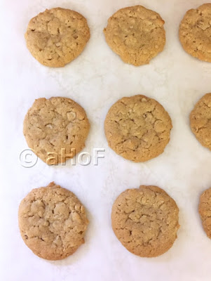 Oatmeal Peanut Butter Cookies before sandwiching