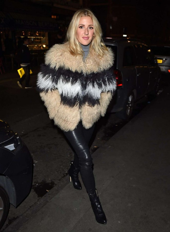 Singer Ellie Goulding Long Hair Stills In Black Jeans