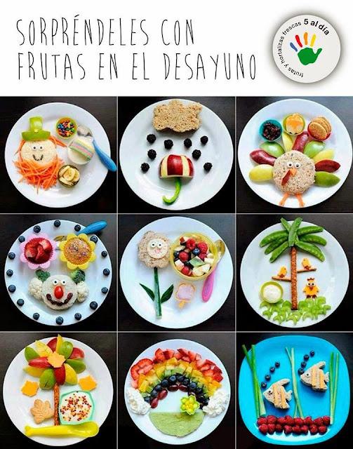 platos de frutas divertidos