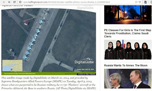 USA uses fake military satellite images to convince public for war with Russia