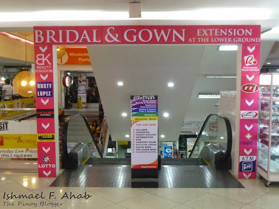 Bridal section in Divisoria 999 Shopping Mall