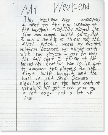 ️ 3rd grade essay example. Student Writing Samples