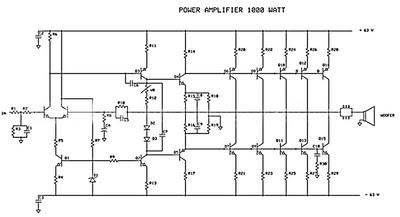 Schema Amplificateur de puissance 1000W