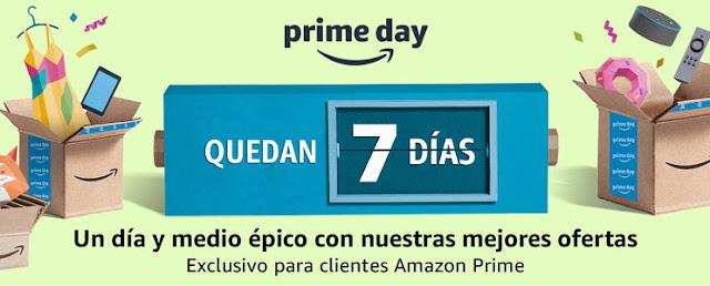 Mejores ofertas Quedan 7 días Amazon Prime Day