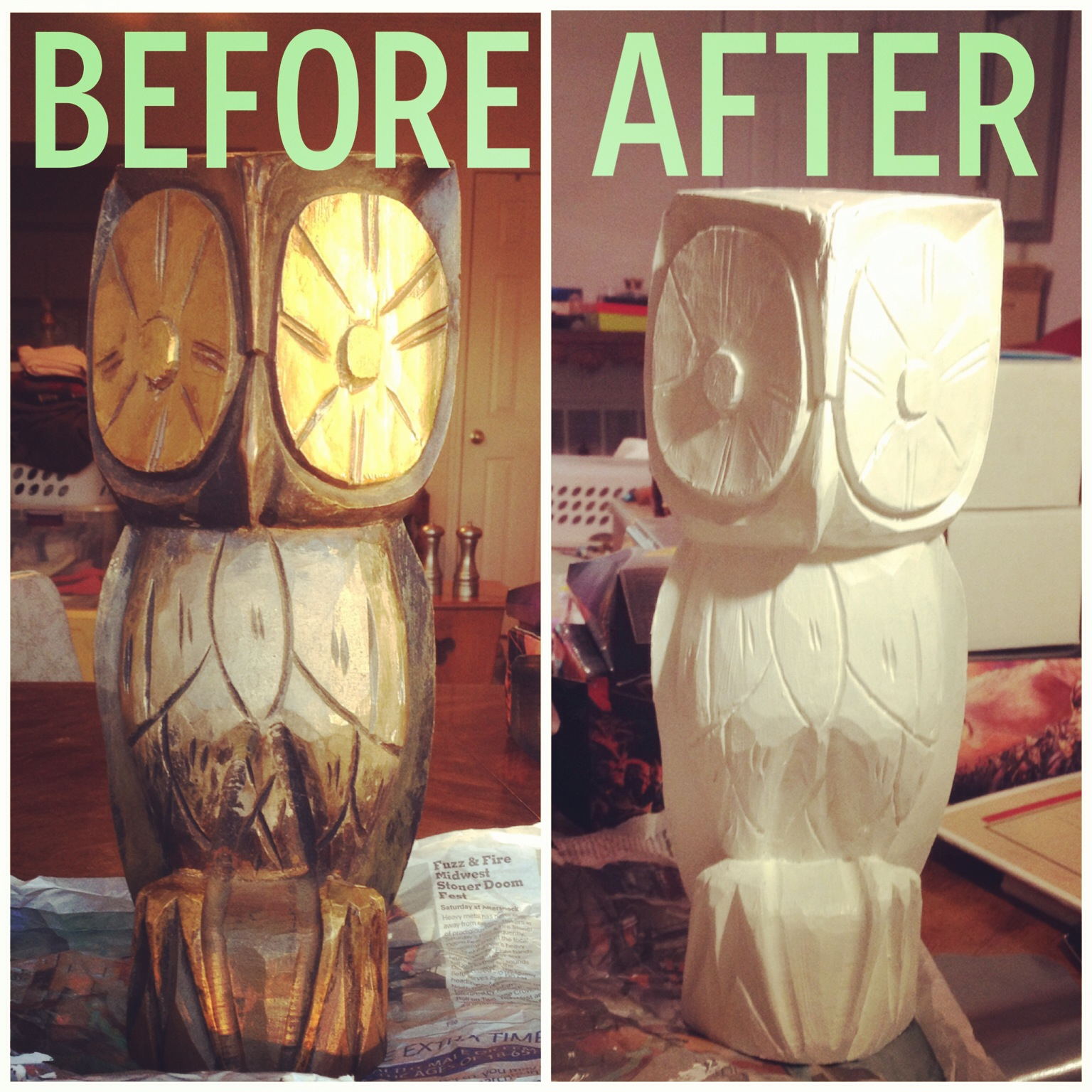 Diy A Little White Paint Goes Long Way Upcycling Wooden Items